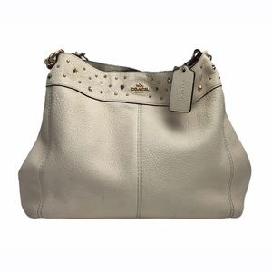 Coach Lexy Off White Shoulder Bag- Stardust Studs
